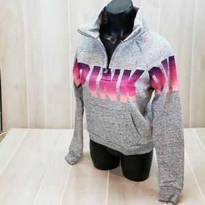 New Pink Victoria's Secret 1/4 Zip Sweatshirt S